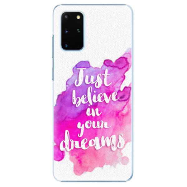 Plastové pouzdro iSaprio - Believe - Samsung Galaxy S20+