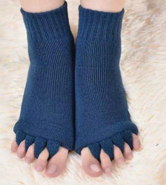 Relaxační prstové ponožky - Modrá