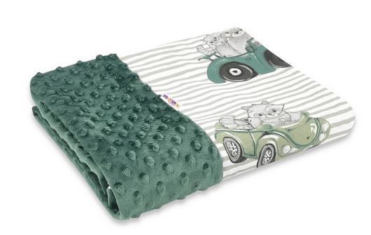 baby-nellys-bavlnena-deka-s-minky-100x75cm-baby-car-zelena