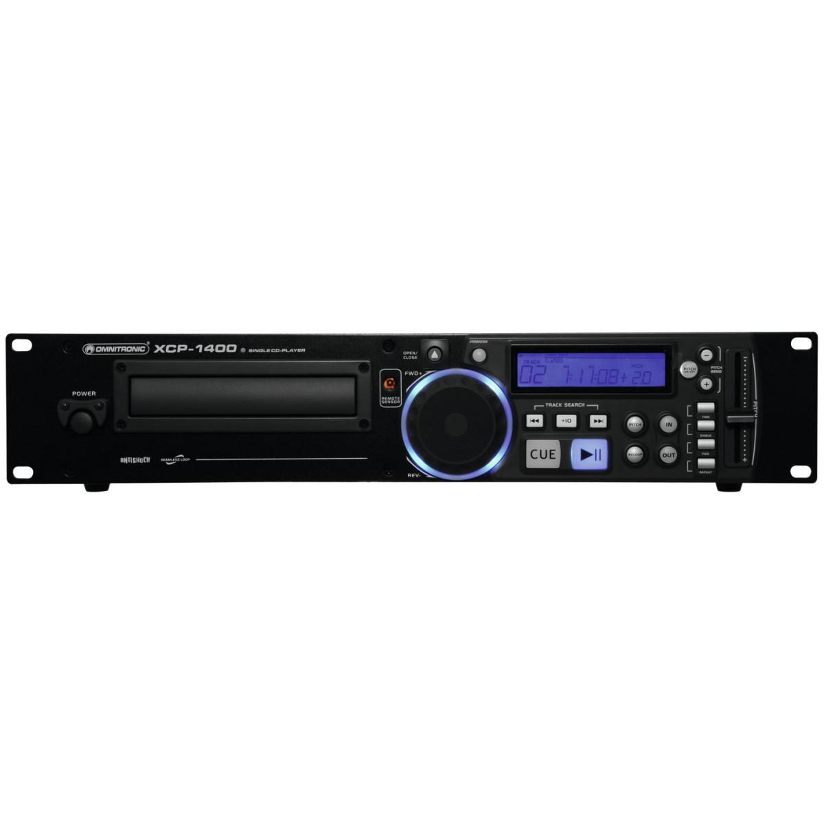 Omnitronic XCP-1400, CD přehrávač