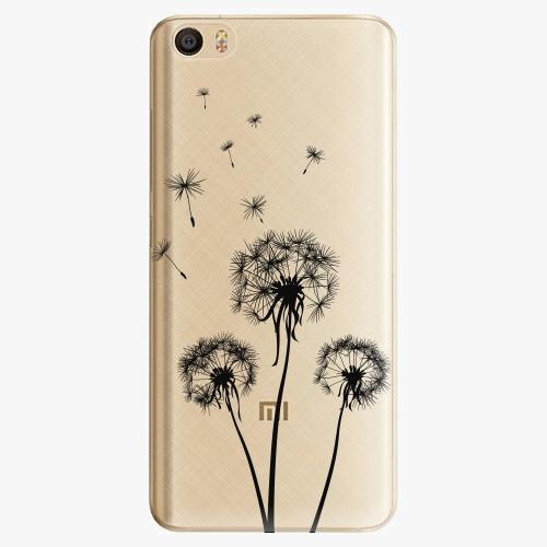 Plastový kryt iSaprio - Three Dandelions - black - Xiaomi Mi5