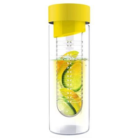 Skleněná láhev FLAVOUR IT 480ml žlutá s infusérem
