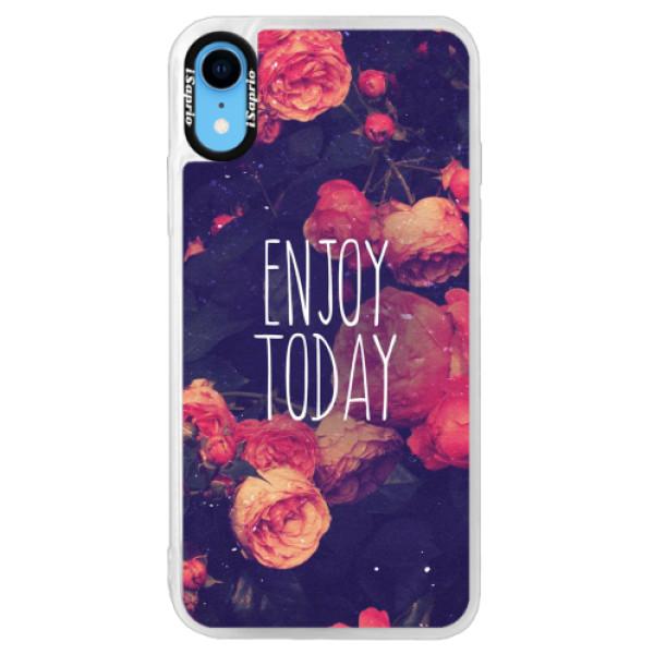 Neonové pouzdro Pink iSaprio - Enjoy Today - iPhone XR