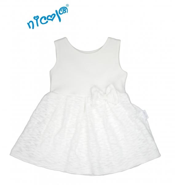 Nicol Kojenecké šaty Lady na ramínka - bílé - 56 (1-2m)