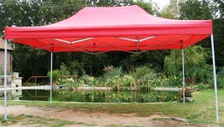 Zahradní  párty přístřešek CLASSIC nůžkový - 3 x 4,5 m červený
