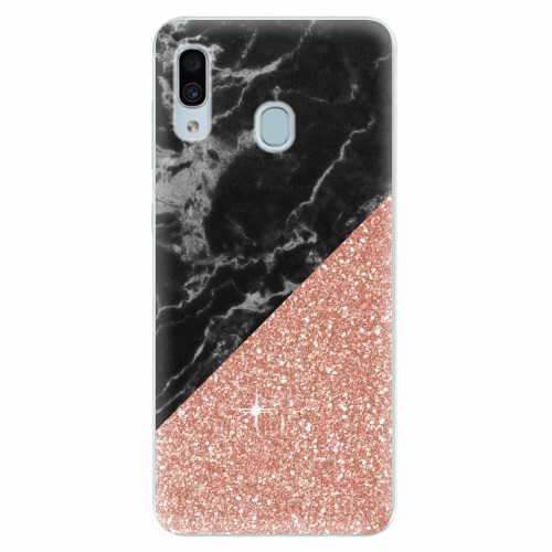 Silikonové pouzdro iSaprio - Rose and Black Marble - Samsung Galaxy A30