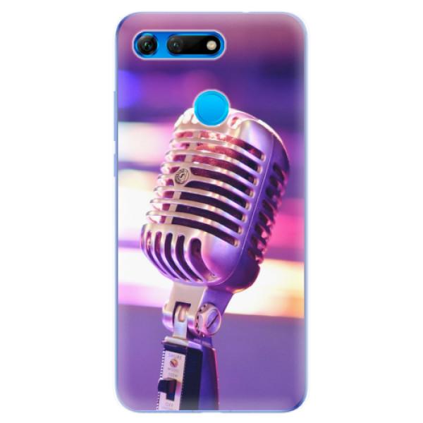 Odolné silikonové pouzdro iSaprio - Vintage Microphone - Huawei Honor View 20