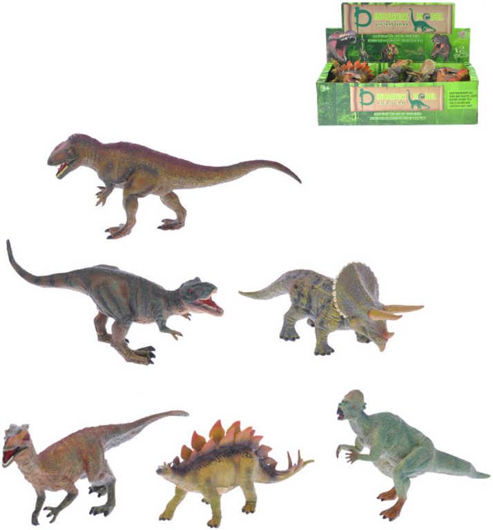 Dinosaurus 20-25cm plastová figurka ještěr 6 druhů