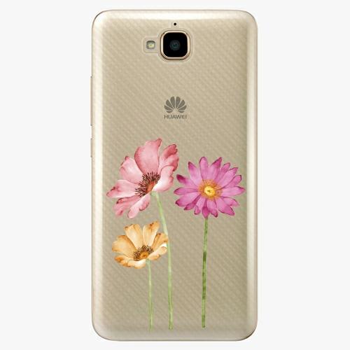 Plastový kryt iSaprio - Three Flowers - Huawei Y6 Pro