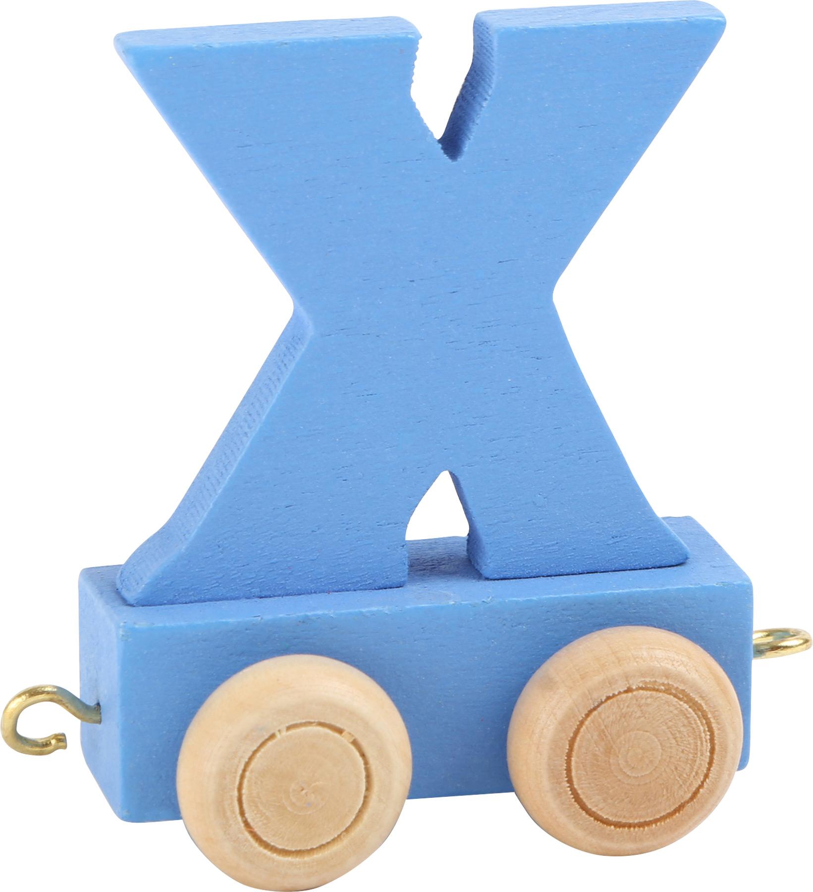 Dřevěný vláček barevná abeceda písmeno X