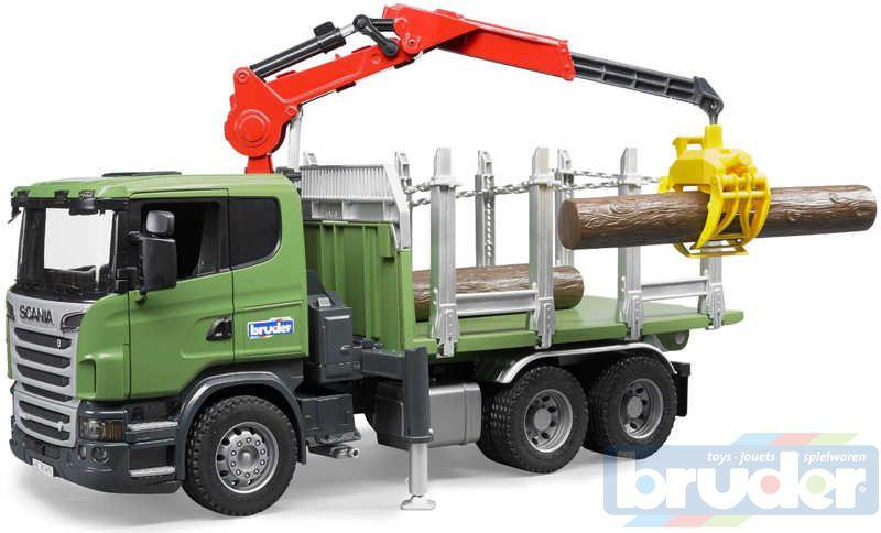 BRUDER 03524 (3524) Přepravník na dřevo Scania PLAST