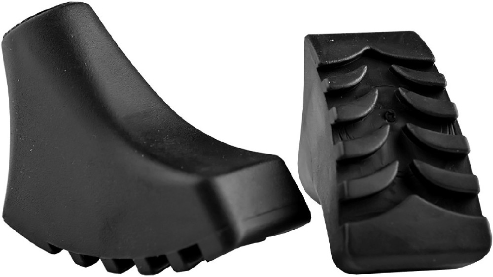 ACRA Koncovky náhradní díl patky na trekingové hole set 1 pár 2 druhy guma