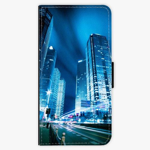 Flipové pouzdro iSaprio - Night City Blue - Nokia 6