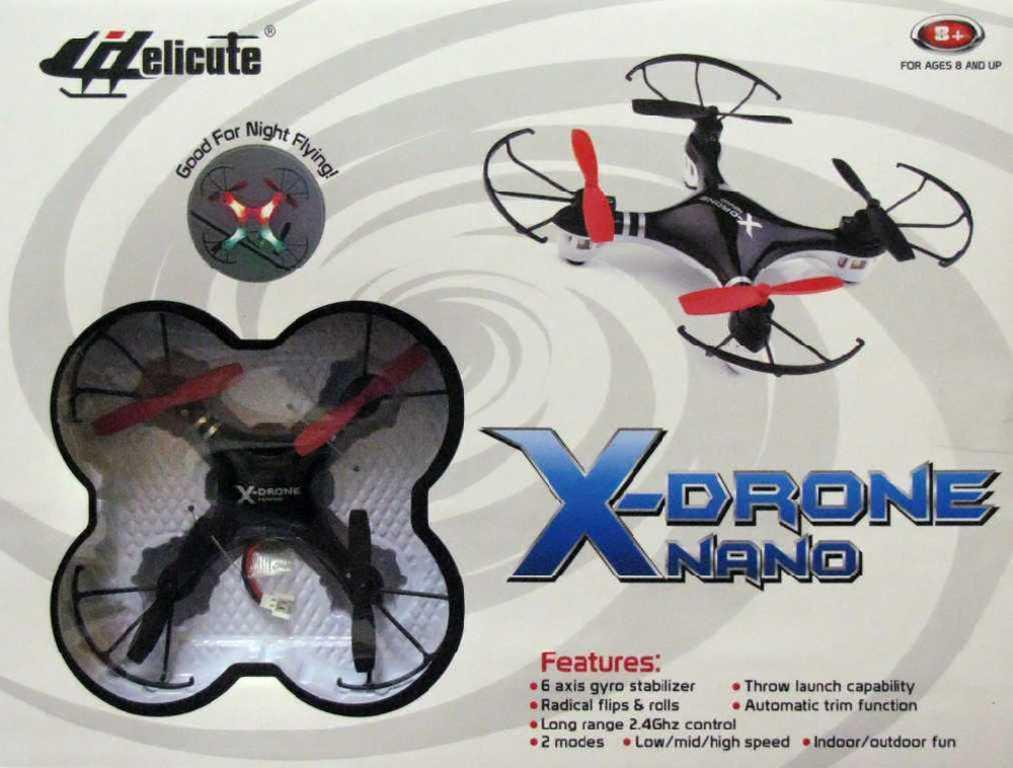 RC Dron kvadrokoptéra X-Drone Nano černá na dálkové ovládání (na vysílačku)