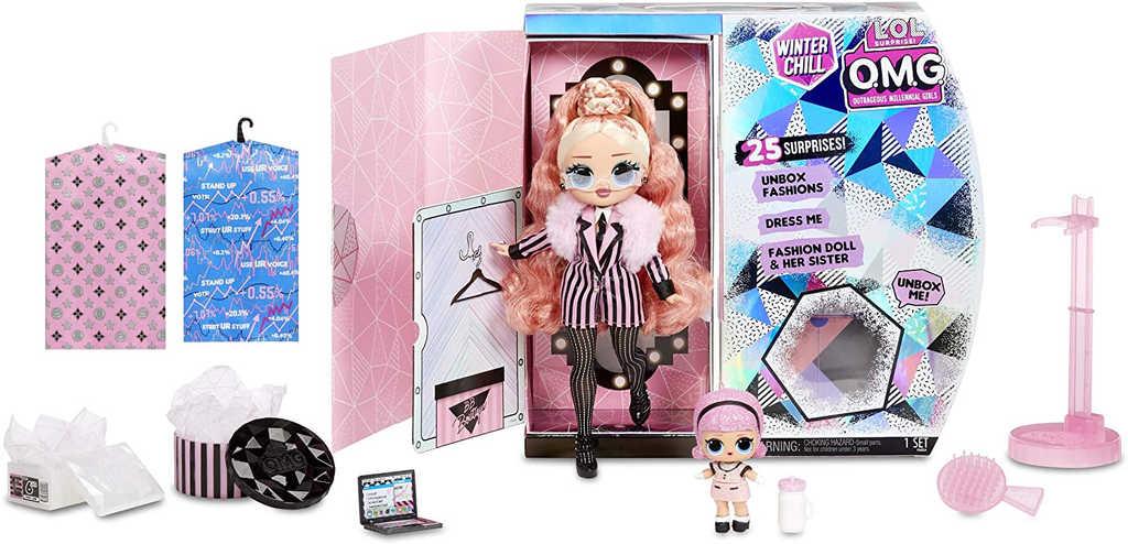 L.O.L. OMG Zimní velká ségra BIG WIG + extra LOL panenka 25 překvapení