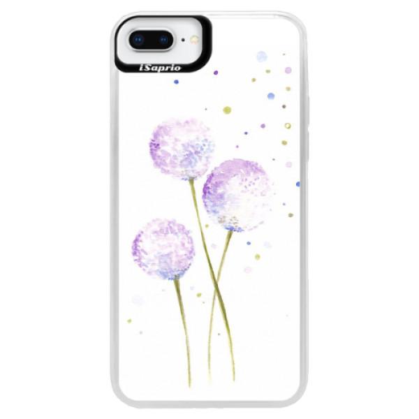 Neonové pouzdro Blue iSaprio - Dandelion - iPhone 8 Plus