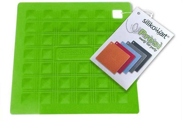 Silikonová podložka pod nádobí – zelená