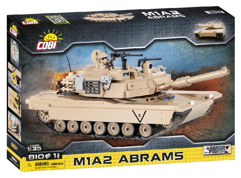 Stavebnice Small Army Abrams M1A2, 1:35, 810 k, 1 f
