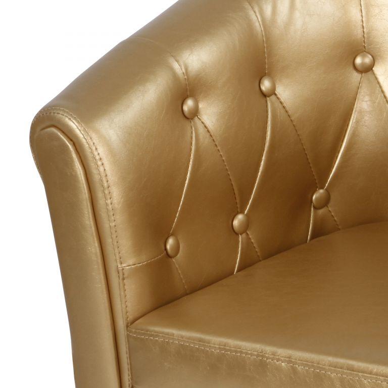 MIADOMODO Sada křesel Chesterfield, 58 x 71 x 70 cm, zlaté