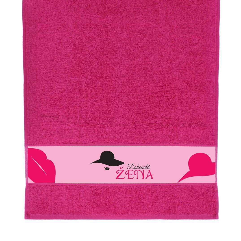 ALBI - Růžový ručník - Dokonalá žena