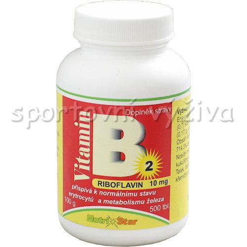 Riboflavin vitamín B 2 10mg 500 tablet