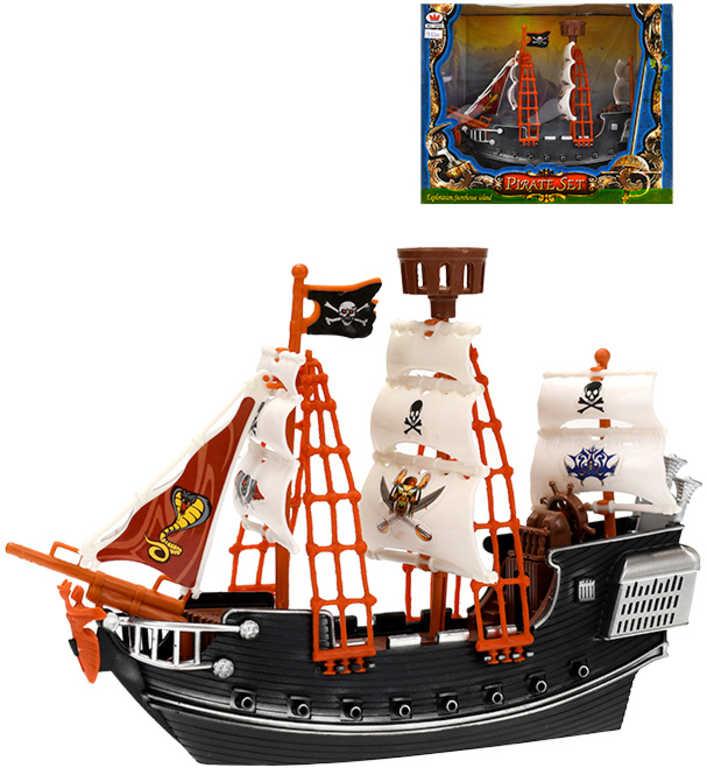 Loď pirátská plachetnice 23cm model v krabičce plast