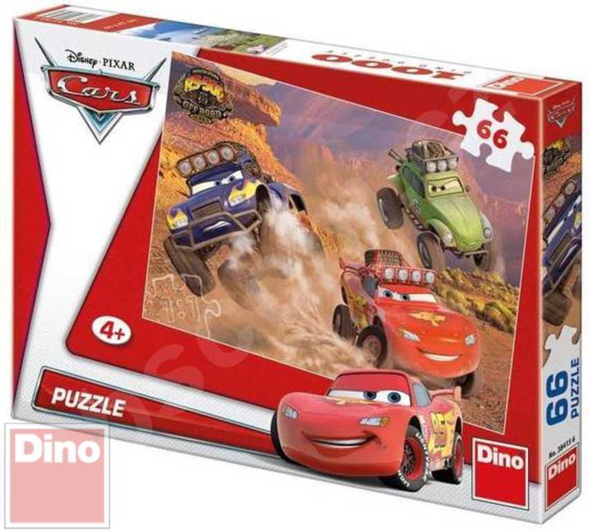 DINO Puzzle Cars akční motiv 66 dílků