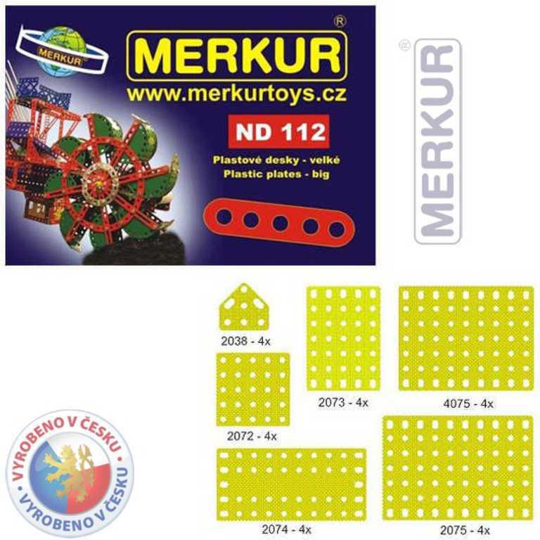 MERKUR ND112 Desky velké plastové náhradní díl set 24ks KOVOVÁ STAVEBNICE