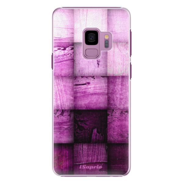 Plastové pouzdro iSaprio - Purple Squares - Samsung Galaxy S9