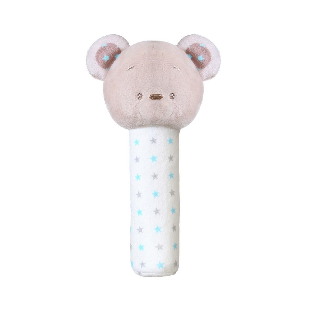 Plyšová pískací hračka Baby Ono Bear - Tony - šedá