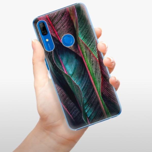 Plastové pouzdro iSaprio - Black Leaves - Huawei P Smart Z