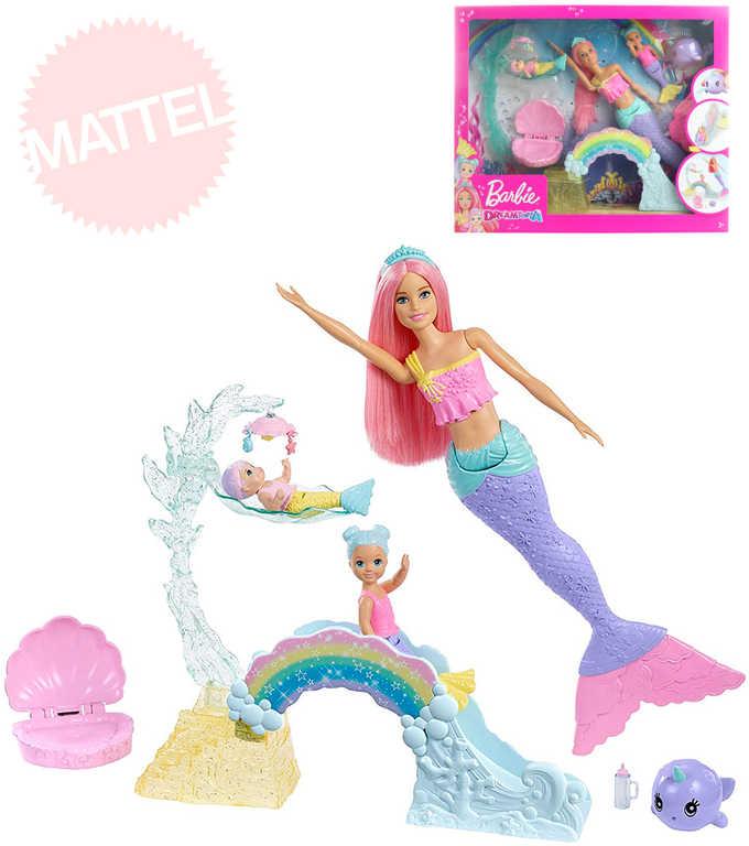 MATTEL BRB Dreamtopia panenka Barbie mořská víla herní set s doplňky