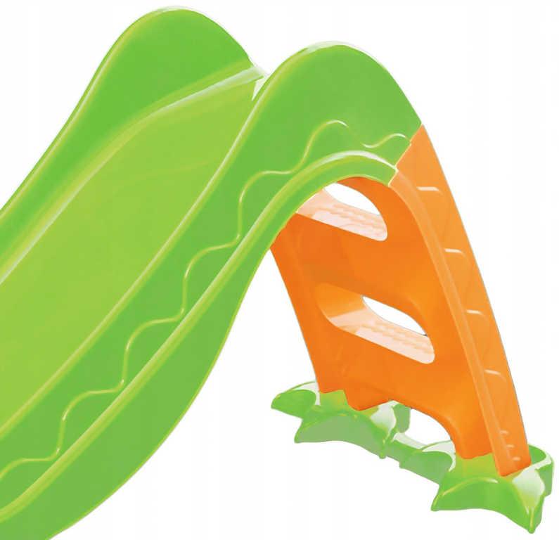 PL Baby skluzavka dinosaurus 3 stupně plastová klouzačka 2 barvy