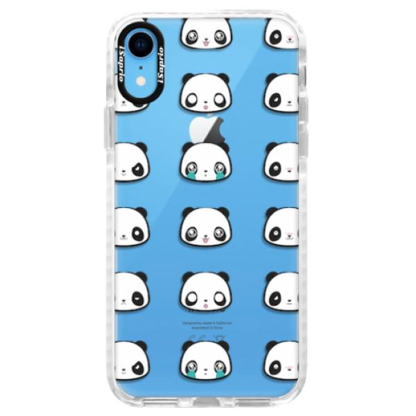 Silikonové pouzdro Bumper iSaprio - Panda pattern 01 - iPhone XR