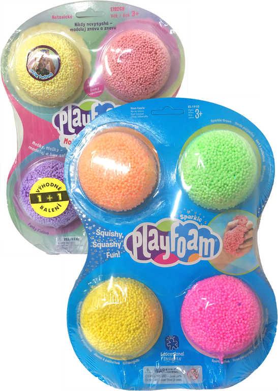 PEXI PlayFoam modelína dětská pěnová boule se třpytkami set 8 barev