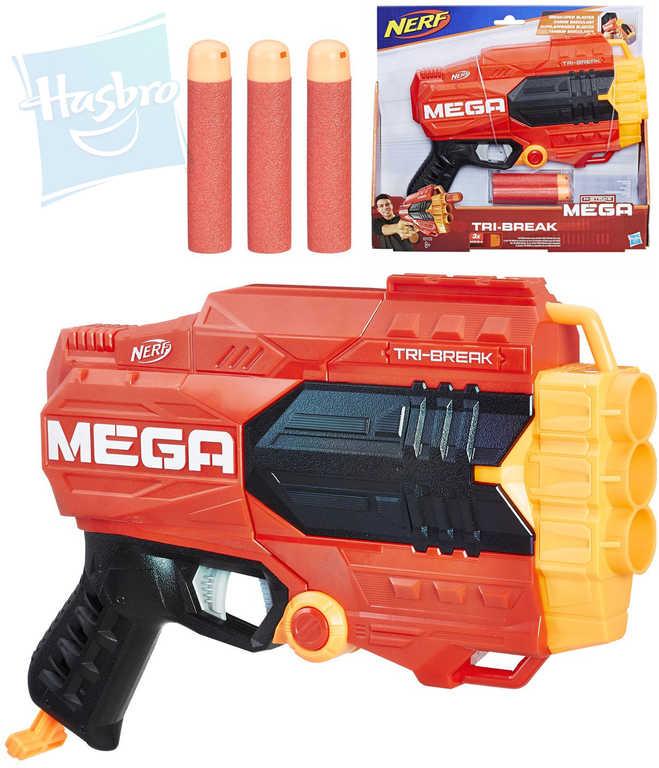 HASBRO NERF N-Strike Elite Mega Tri-Break set pistole blaster + 3 šipky