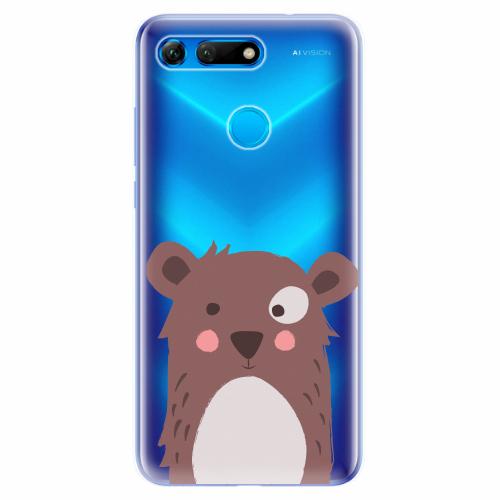 Silikonové pouzdro iSaprio - Brown Bear - Huawei Honor View 20