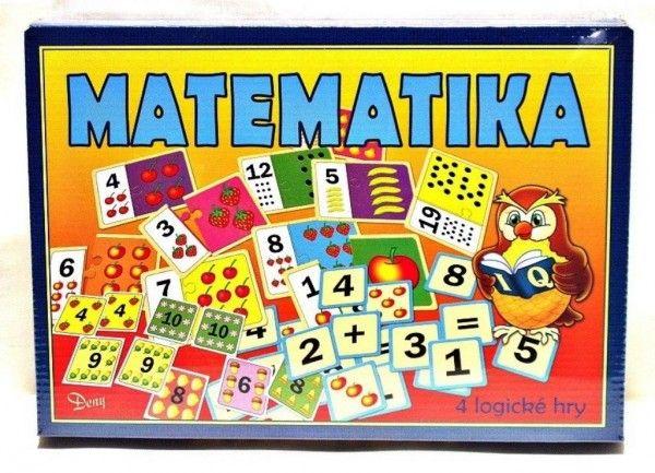 Matematika 4 logické hry společenská hra v krabici