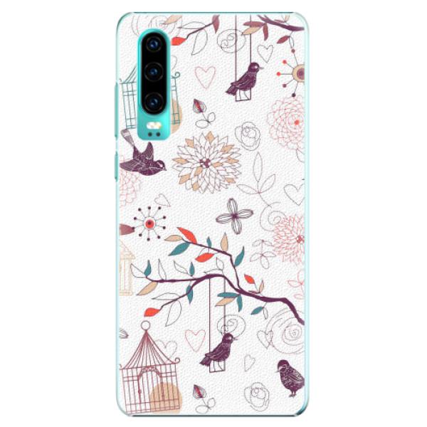 Plastové pouzdro iSaprio - Birds - Huawei P30