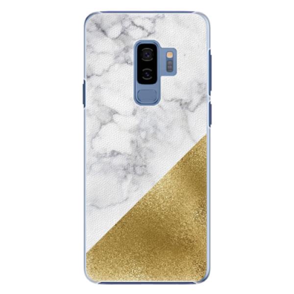 Plastové pouzdro iSaprio - Gold and WH Marble - Samsung Galaxy S9 Plus