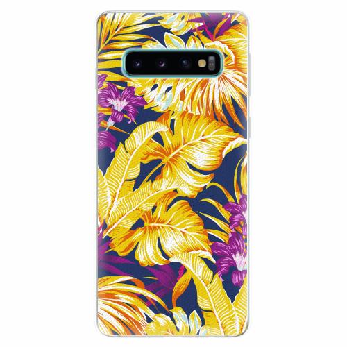 Silikonové pouzdro iSaprio - Tropical Orange 04 - Samsung Galaxy S10