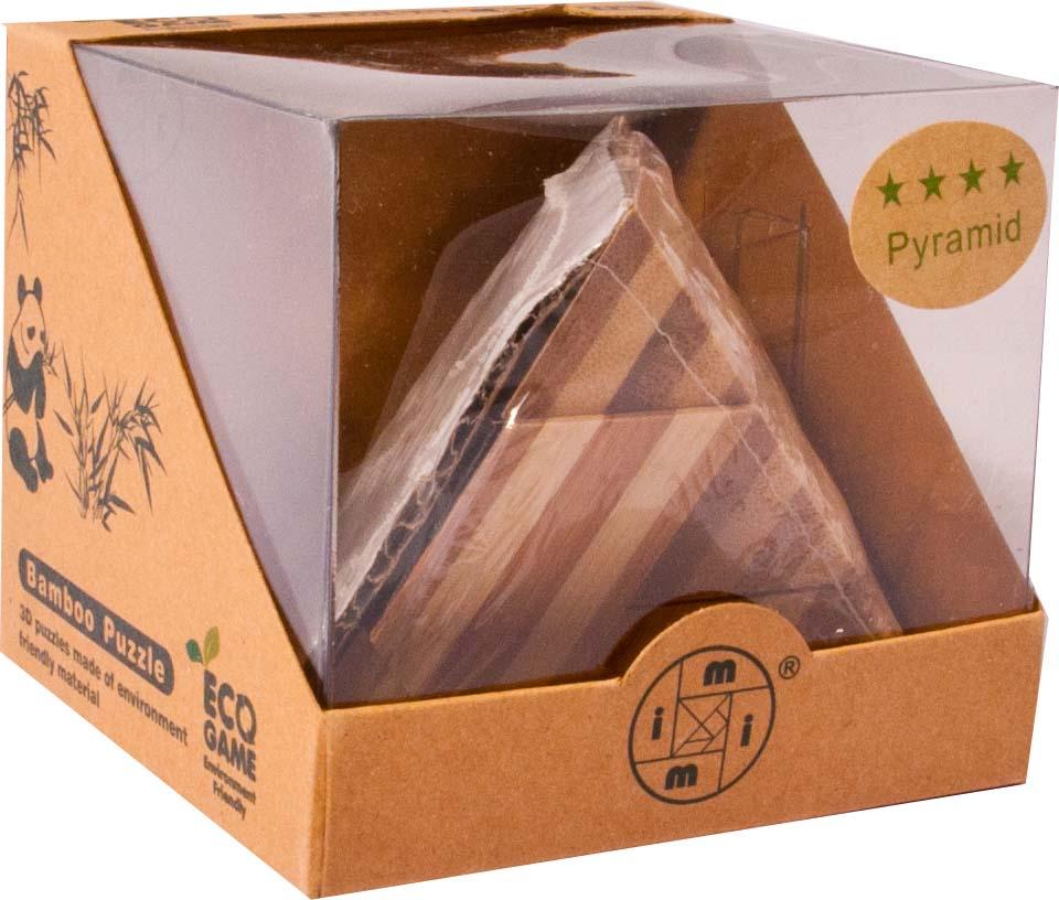 Bambusový - hlavolam - Pyramida