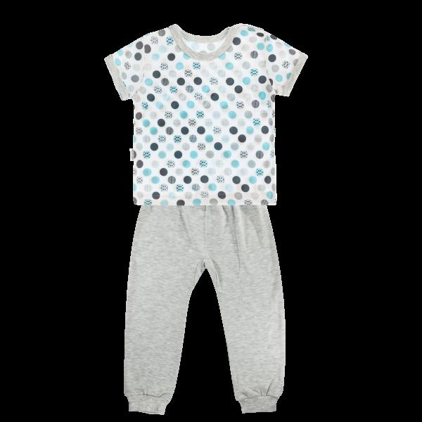 Mamatti Bavlněné pyžamko Mamatti Bubble Boo - krátký rukáv