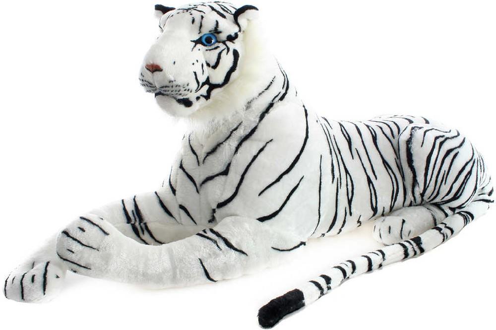 PLYŠ Tygr bílý ležící 110 cm velký
