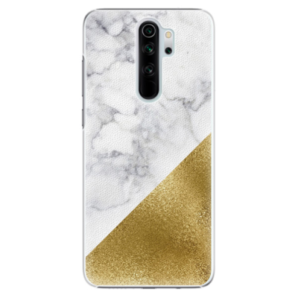 Plastové pouzdro iSaprio - Gold and WH Marble - Xiaomi Redmi Note 8 Pro