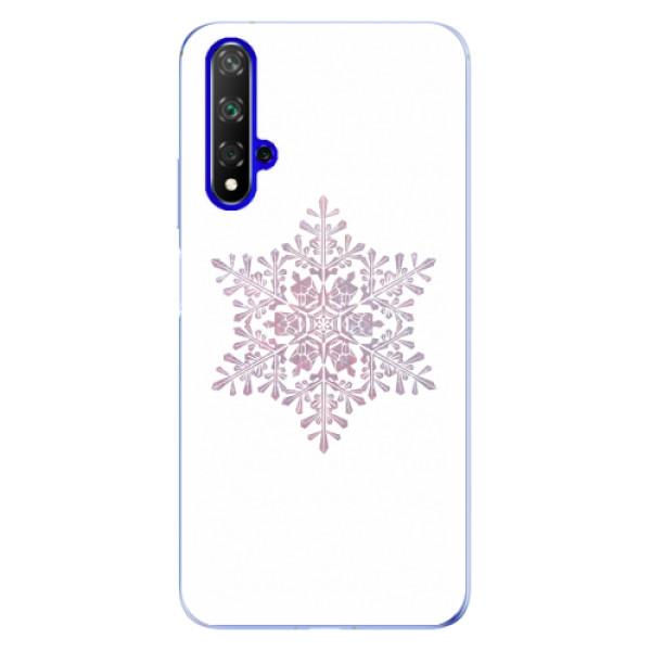 Odolné silikonové pouzdro iSaprio - Snow Flake - Huawei Honor 20