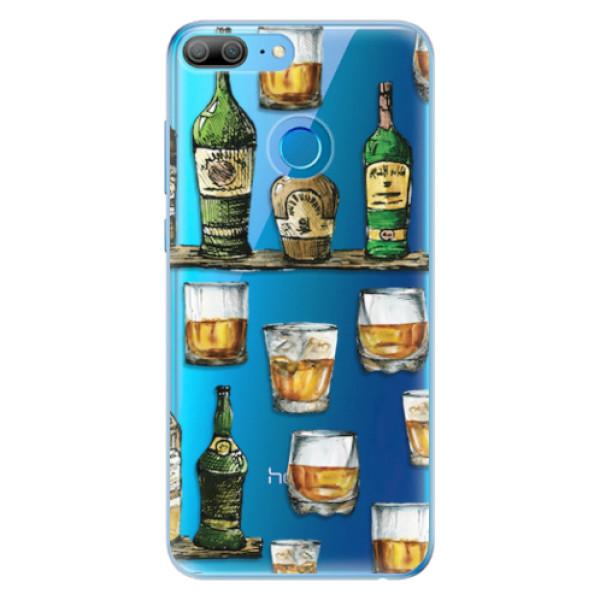 Odolné silikonové pouzdro iSaprio - Whisky pattern - Huawei Honor 9 Lite