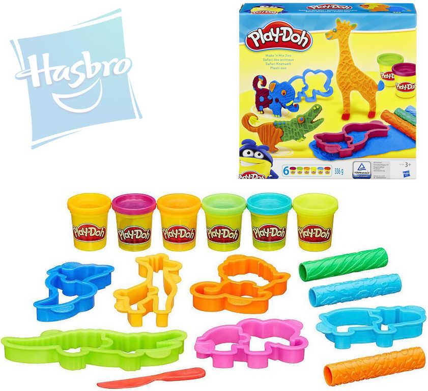 HASBRO PLAY-DOH Modelína set 6 kelímků s vykrajovátky a doplňky zvířátka