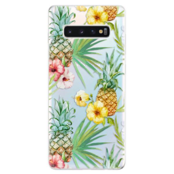 Odolné silikonové pouzdro iSaprio - Pineapple Pattern 02 - Samsung Galaxy S10+