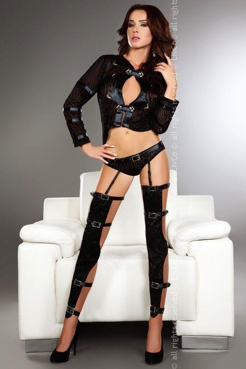 Sexy kostým Erna - Livia Corsetti - Černá/L